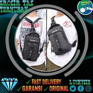 Harga bisa cod tas selempang pria murah waterproof bisa ransel waistbag   | HARGALOKA.COM