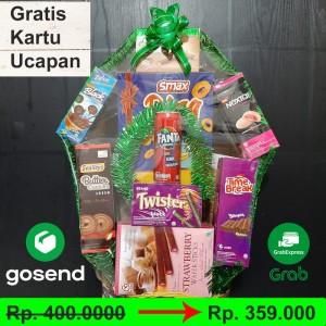 Harga parcel lebaran gratis kartu ucapan gosend grab area bogor | HARGALOKA.COM