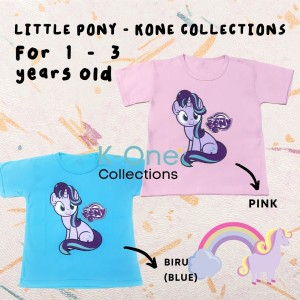 Harga kaos anak perempuan little pony 1 3th   baju bayi girl little pony   biru muda   HARGALOKA.COM