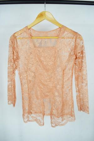 Harga kebaya kutu baru baju atasan brukat wanita bali modern murah grosir   peach | HARGALOKA.COM