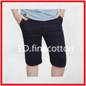 Harga celana jeans pendek pria cowok hitam biru muda biru murah berkualitas   hitam | HARGALOKA.COM