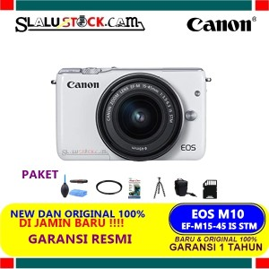 Harga canon eos m10 kit 15 45mm original   kamera mirrorless canon   standart | HARGALOKA.COM
