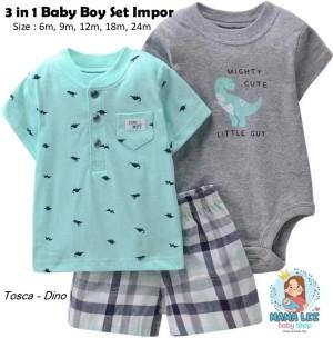 Harga carter 3 in 1 baby boy jumper set carters jumper set baju bayi   tosca dino   HARGALOKA.COM