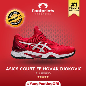 Harga sepatu tenis asics court ff novak djokovic red tennis shoes | HARGALOKA.COM