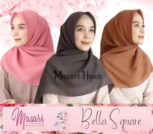 Harga hijab bella square segiempat polycotton   bs | HARGALOKA.COM