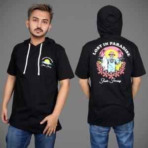 Harga kaos hoodie lengan pendek baju hodie pria distro original   | HARGALOKA.COM