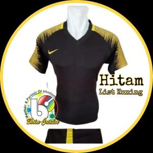 Harga cod jersey bola amp futsal dewasa model nike terlaris   m hitam | HARGALOKA.COM
