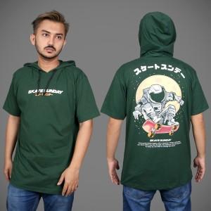 Harga kaos hoodie pria baju hodie lengan pendek distro original   | HARGALOKA.COM