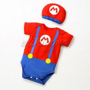 Harga baju bayi jumper bayi karakter mario bros lucu     HARGALOKA.COM
