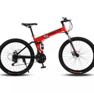 Harga sepeda lipat mtb macce   26 inch   21 speed   folding mountain bike   | HARGALOKA.COM