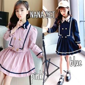 Harga nana set blue stelan anak korea impor   pink | HARGALOKA.COM
