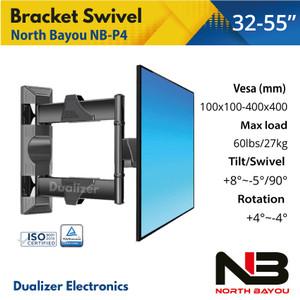 Harga bracket braket breket tv swivel led 32 40 42 43 46 47 49 50 52 55 | HARGALOKA.COM