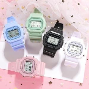 Harga jam tangan wanita digital motif bunga daisy anti air murah impor     HARGALOKA.COM