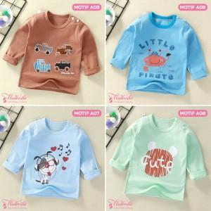 Harga baju kaos anak bayi tangan panjang lucu cute import laki perempuan   a06   HARGALOKA.COM