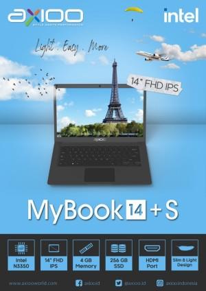 Harga axioo mybook 14 s n3350 4gb ssd 256gb 14 34 fhd ips garansi | HARGALOKA.COM