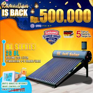 Harga pemanas air surya intisolar 200 liter inti solar water heater | HARGALOKA.COM