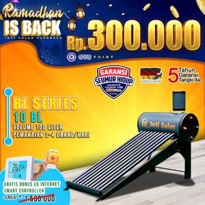 Harga pemanas air matahari intisolar 100 liter inti solar water heater | HARGALOKA.COM
