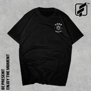 Harga kaos hitam t shirt street fanatic oversized style lord fanatic     HARGALOKA.COM