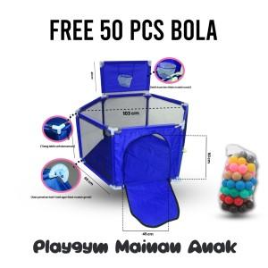 Harga kolam mandi bola keranjang mandi bola mainan tenda anak playpen 1   | HARGALOKA.COM