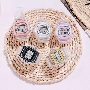 Harga jam tangan wanita digital transparan murah premium korea     HARGALOKA.COM