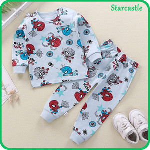 Harga impor set piyama bayi baju tidur anak lengan celana panjang motif lucu   sprider baby 120   HARGALOKA.COM