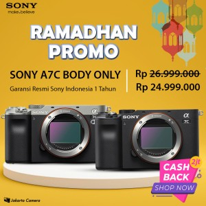 Harga sony alpha a7c body only mirrorles full frame camera   | HARGALOKA.COM