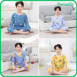 Harga setelan piyama anak import karakter kartun lengan 3 4 baju tidur   dino party | HARGALOKA.COM