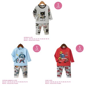 Harga setelan baju tidur anak laki laki import panjang 1 10 tahun 3   batman a pp size   HARGALOKA.COM