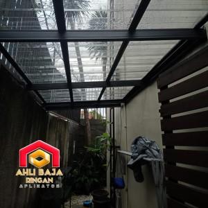 Harga kanopi baja ringan atap spandek tranfaran wa | HARGALOKA.COM