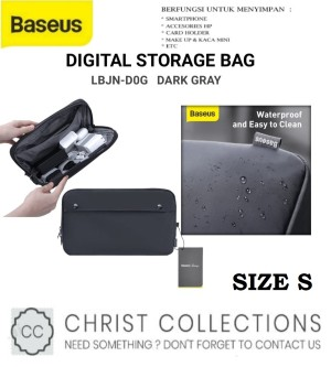 Harga baseus storage bag gadget organizer waterproof basics digital series   size | HARGALOKA.COM