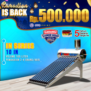 Harga pemanas air matahari intisolar 100liter inti solar water heater | HARGALOKA.COM