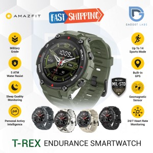 Harga amazfit t rex smartwatch military std amoled display garansi resmi   army   HARGALOKA.COM