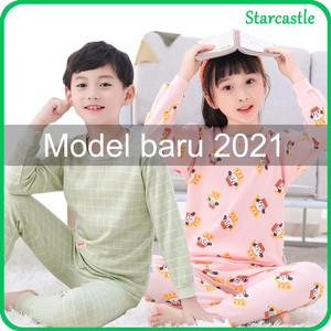 Harga impor set piyama anak kecil lucu baju tidur lengan panjang unisex   scoth girl 100 4 5tahun   HARGALOKA.COM