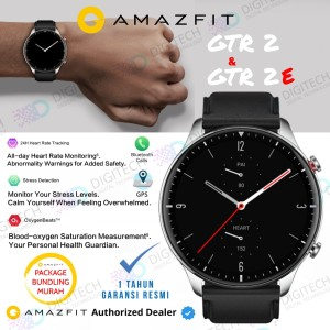 Harga amazfit gtr 2 smartwatch blood oksigen play music bluetooth call   gtr 2e   black paket | HARGALOKA.COM