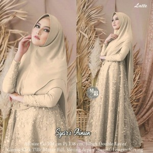 Harga bisa cod gamis burkat syar 39 i ainun gamis modern dress tile terbaru   | HARGALOKA.COM