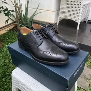 Harga florsheim wingtip formal men shoes in black with ortolite sole size | HARGALOKA.COM