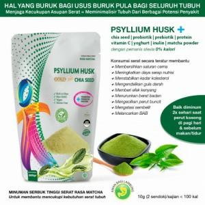 Harga minuman diet psyllium husk gold mix rasa matcha 250gr makanan | HARGALOKA.COM