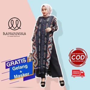 Harga baju dress tunik tenun wanita terbaru   tunik tenun etnik jepara   | HARGALOKA.COM