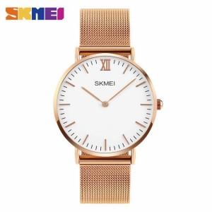 Harga skmei 1181 jam tangan pria original simple tali rantai stainless steel   | HARGALOKA.COM