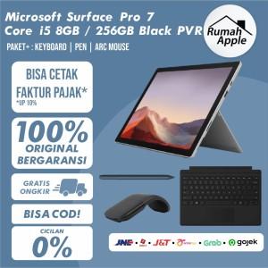 Harga microsoft surface pro 7 i5 8gb 256gb 256 gb platinum black pvr   non paket   HARGALOKA.COM