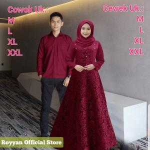 Harga baju couple gamis brukat jumbo couple pasangan keluarga pria | HARGALOKA.COM