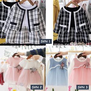 Harga dress bayi anak perempuan lucu gaun pesta baju pakaian pita   svn 2 pink | HARGALOKA.COM