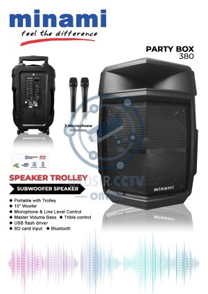 Harga speaker active meeting speaker 15 inch minami party box | HARGALOKA.COM