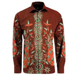 Harga kemeja batik tulis madura kemeja batik pria lengan panjang | HARGALOKA.COM