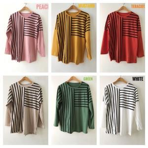 Harga blouse kaos fashion sweater santai jumbo buat ngemall kuliah | HARGALOKA.COM