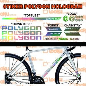 Harga stiker sticker polygon sepeda strattos holograme frame | HARGALOKA.COM