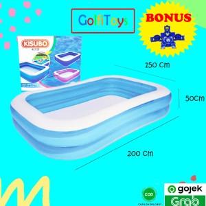 Harga kolam renang karet anak mainan kisubo ukuran 2 meter besar 2 warna   | HARGALOKA.COM