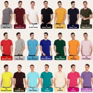 Harga kaos polos pria bahan cotton combed 30s premium korea 100 supersoft   warnalaindinote   HARGALOKA.COM