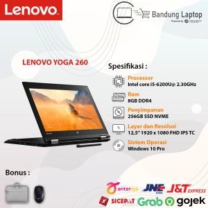 Harga laptop lenovo yoga 260 ci5 gen6 8gb 256gb ssd second like new | HARGALOKA.COM