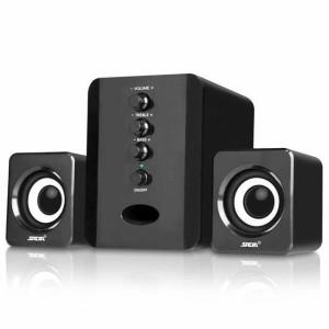 Harga speaker stereo 2 1 with subwoofer amp usb power speker pc laptop amp | HARGALOKA.COM